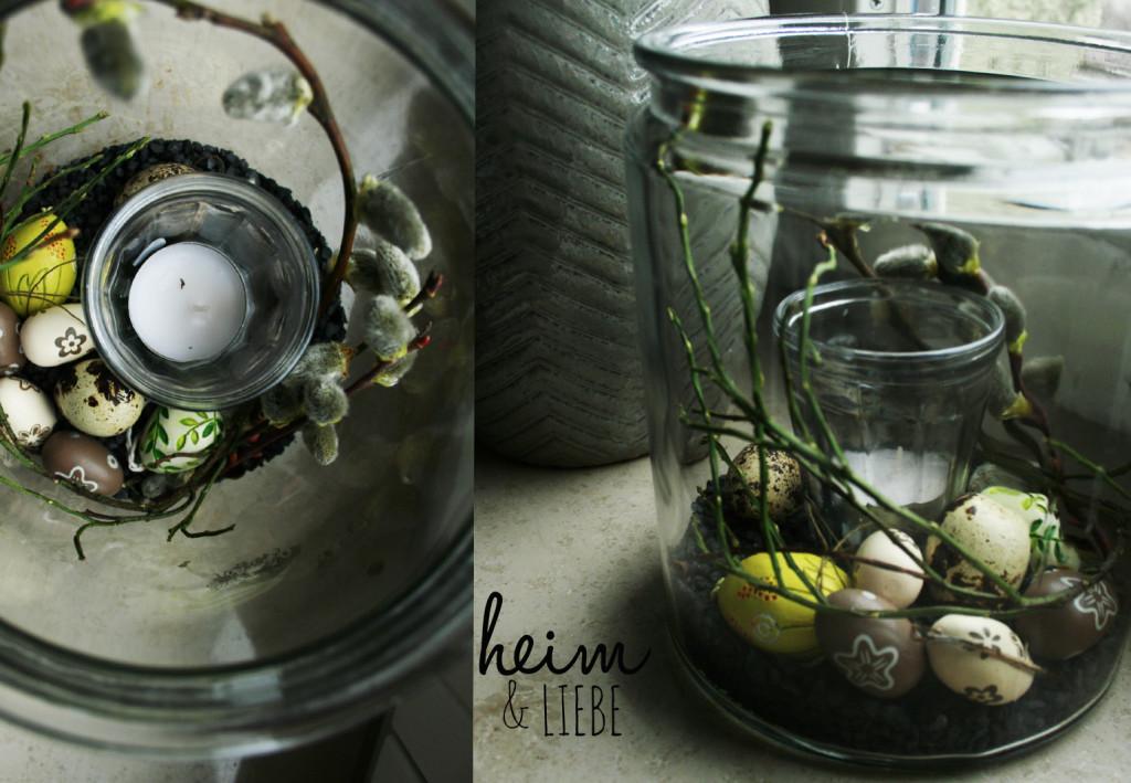Osterdeko Glas natürlich