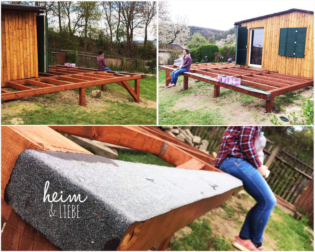 Terrasse aus Holz selber bauen Grenzen eines Hobbygärtners
